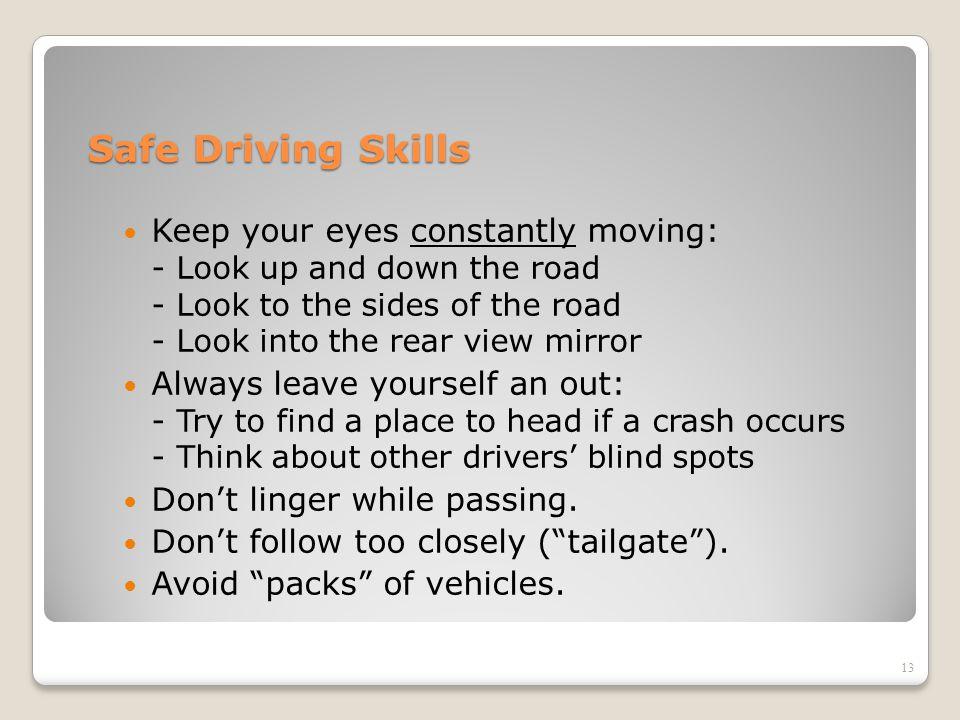 Safe Driving Skills