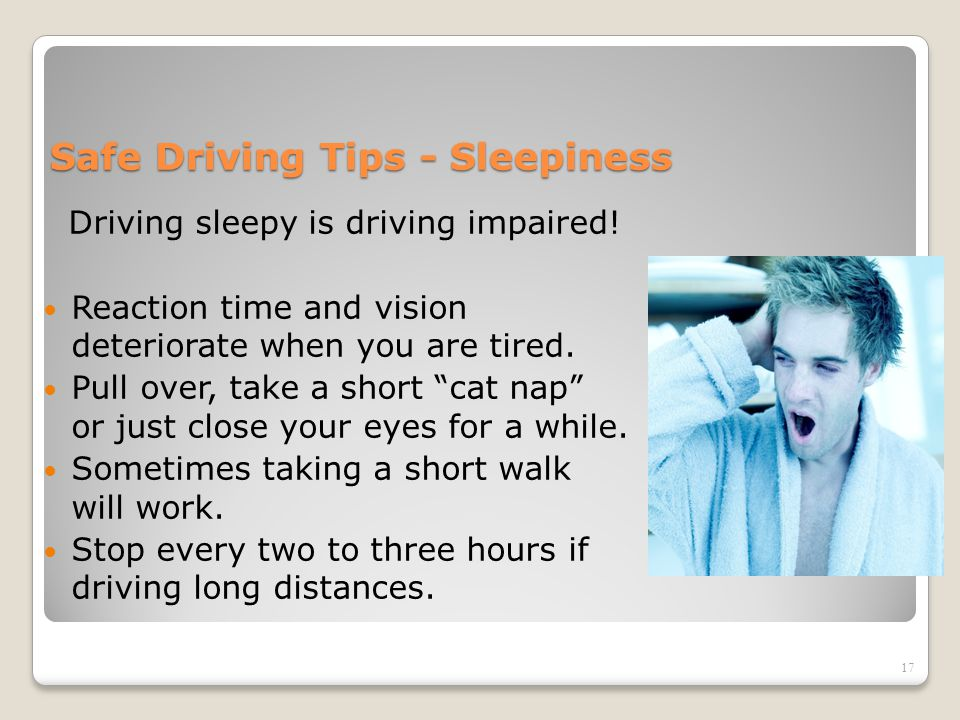 Safe Driving Tips - Sleepiness
