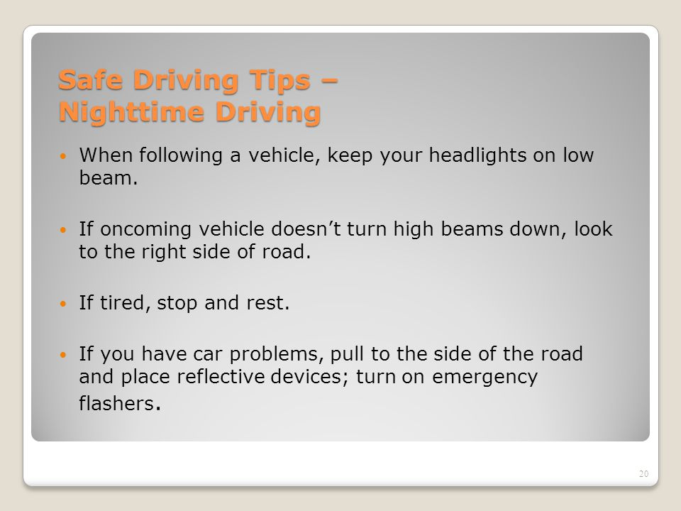 Safe Driving Tips – Nighttime Driving