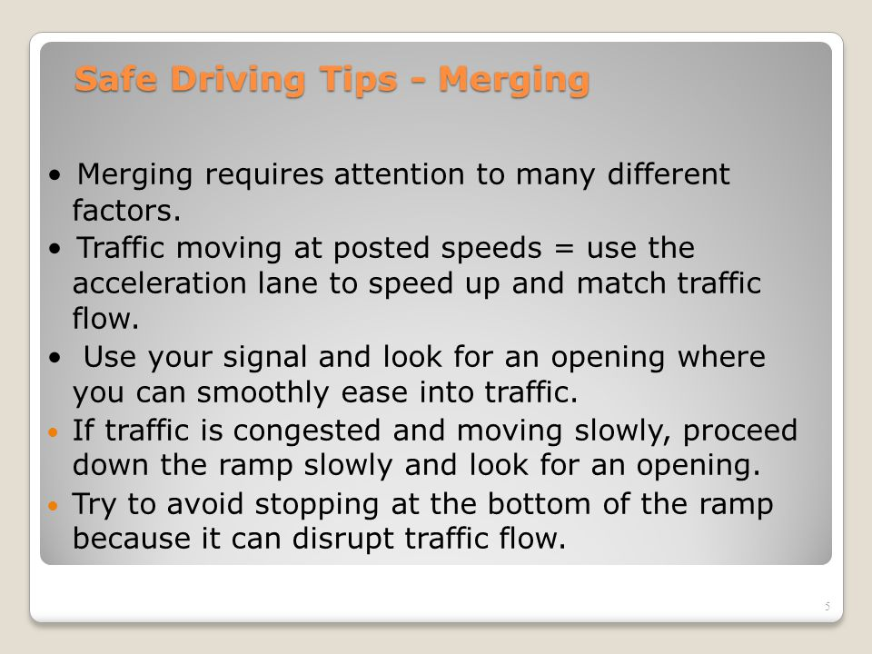 Safe Driving Tips - Merging