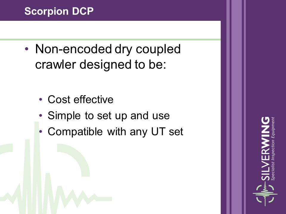 Non-encoded dry coupled crawler designed to be: