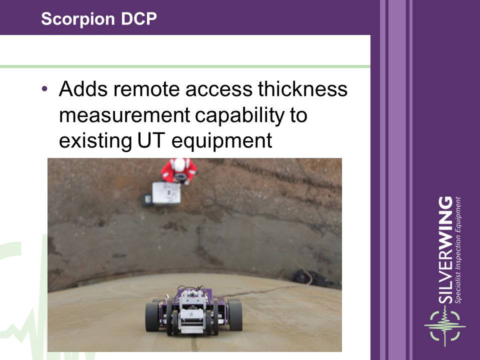 Scorpion DCP Adds remote access thickness measurement capability to existing UT equipment