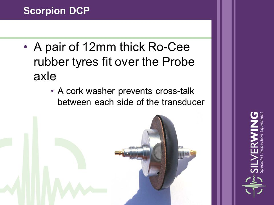 A pair of 12mm thick Ro-Cee rubber tyres fit over the Probe axle