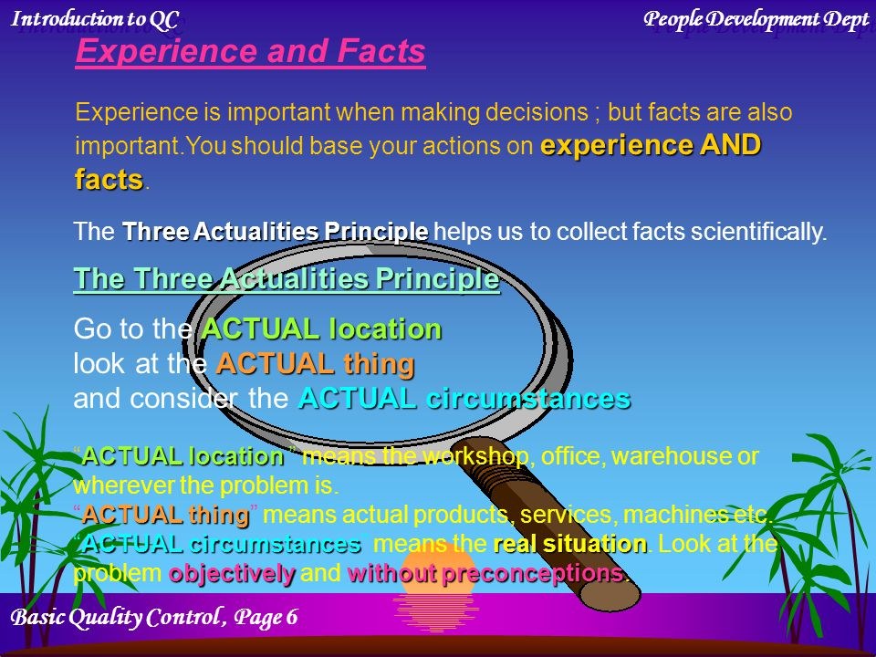 Experience and Facts The Three Actualities Principle