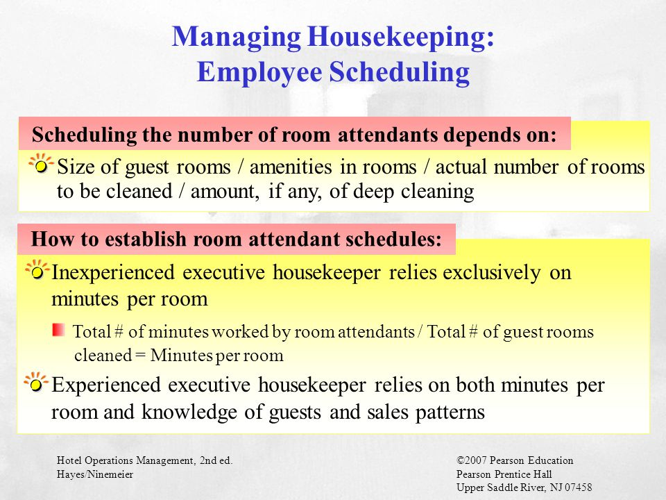 Managing Housekeeping: Employee Scheduling