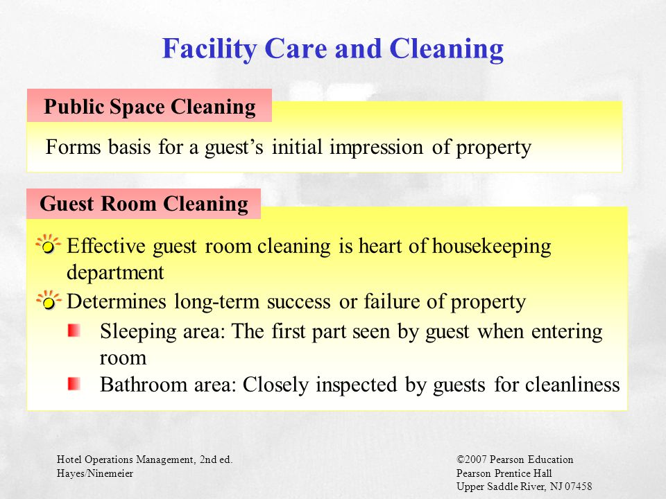 Facility Care and Cleaning