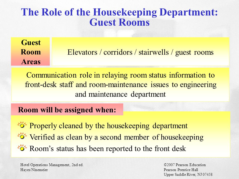 The Role of the Housekeeping Department: Guest Rooms