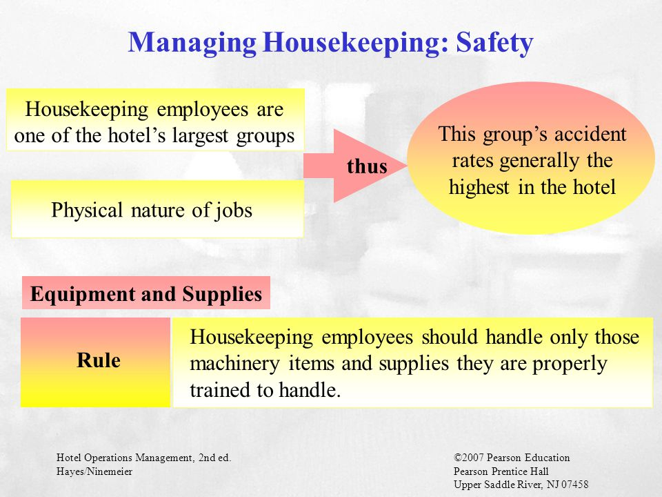 Managing Housekeeping: Safety Equipment and Supplies