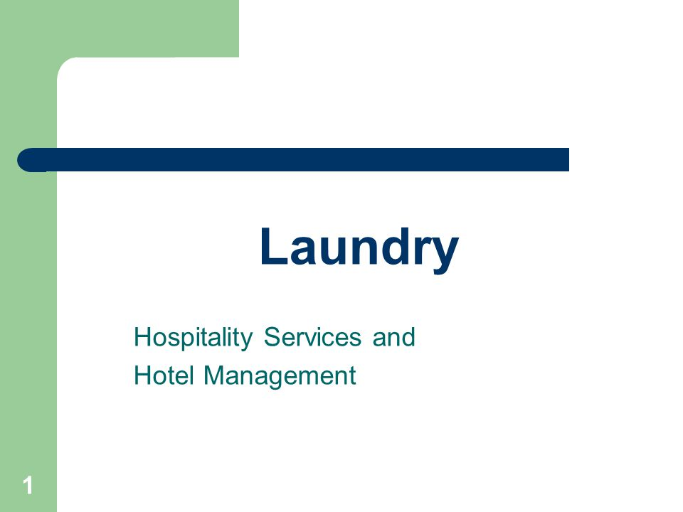 Hospitality Services and Hotel Management