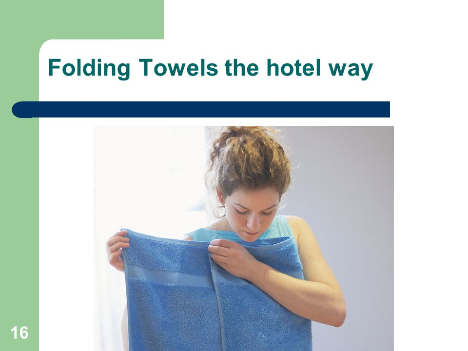 Folding Towels the hotel way