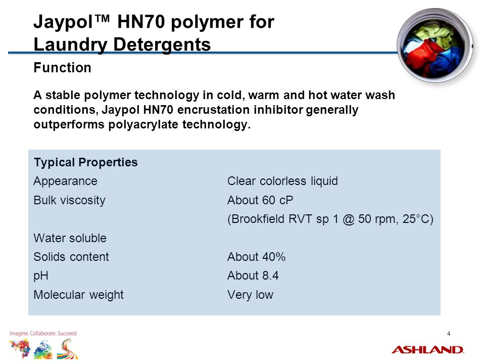 Jaypol™ HN70 polymer for Laundry Detergents