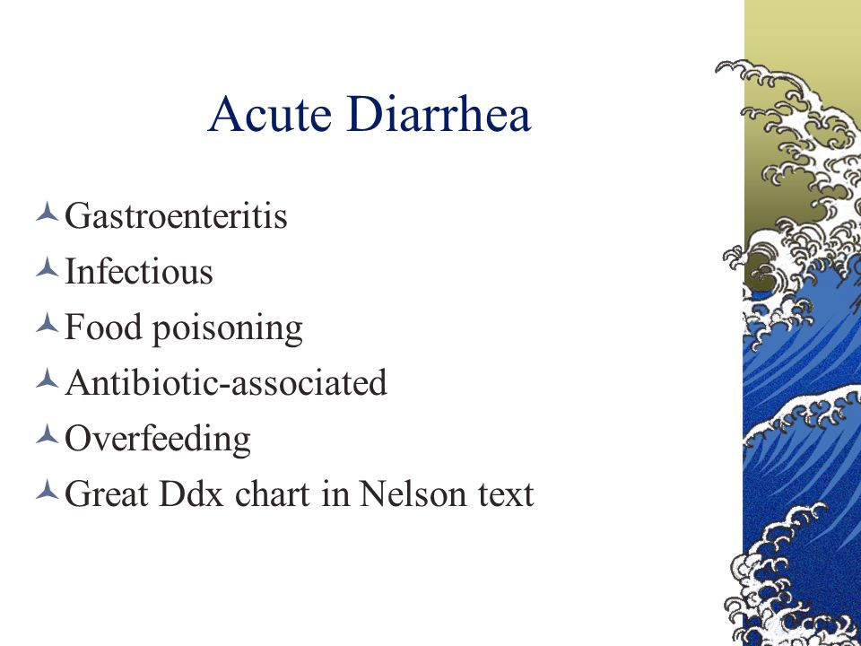 Acute Diarrhea Gastroenteritis Infectious Food poisoning
