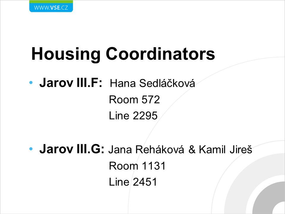 Housing Coordinators Jarov III.F: Hana Sedláčková