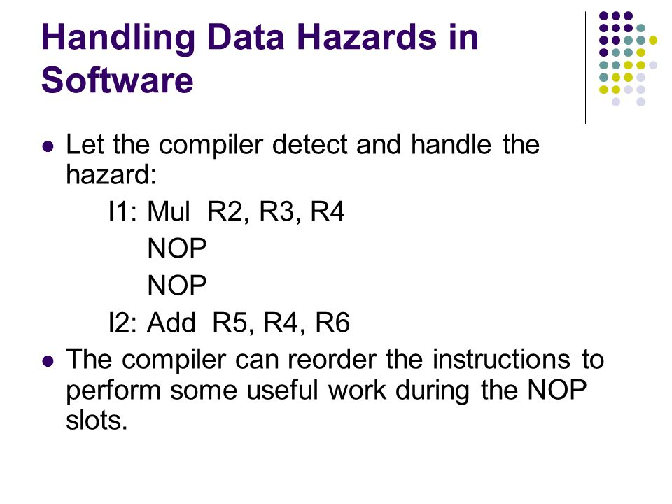Handling Data Hazards in Software
