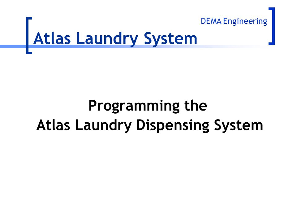 Atlas Laundry Dispensing System