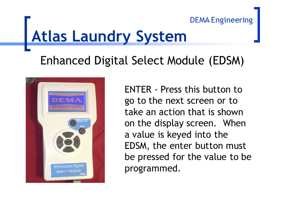 Atlas Laundry System Enhanced Digital Select Module (EDSM)