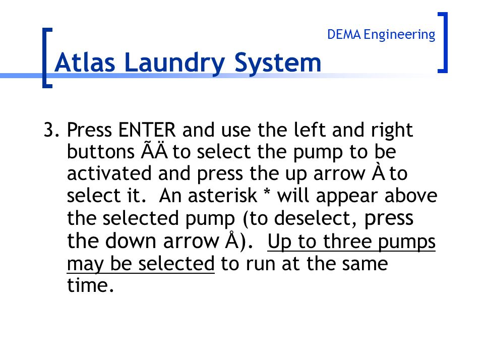 Atlas Laundry System DEMA Engineering.