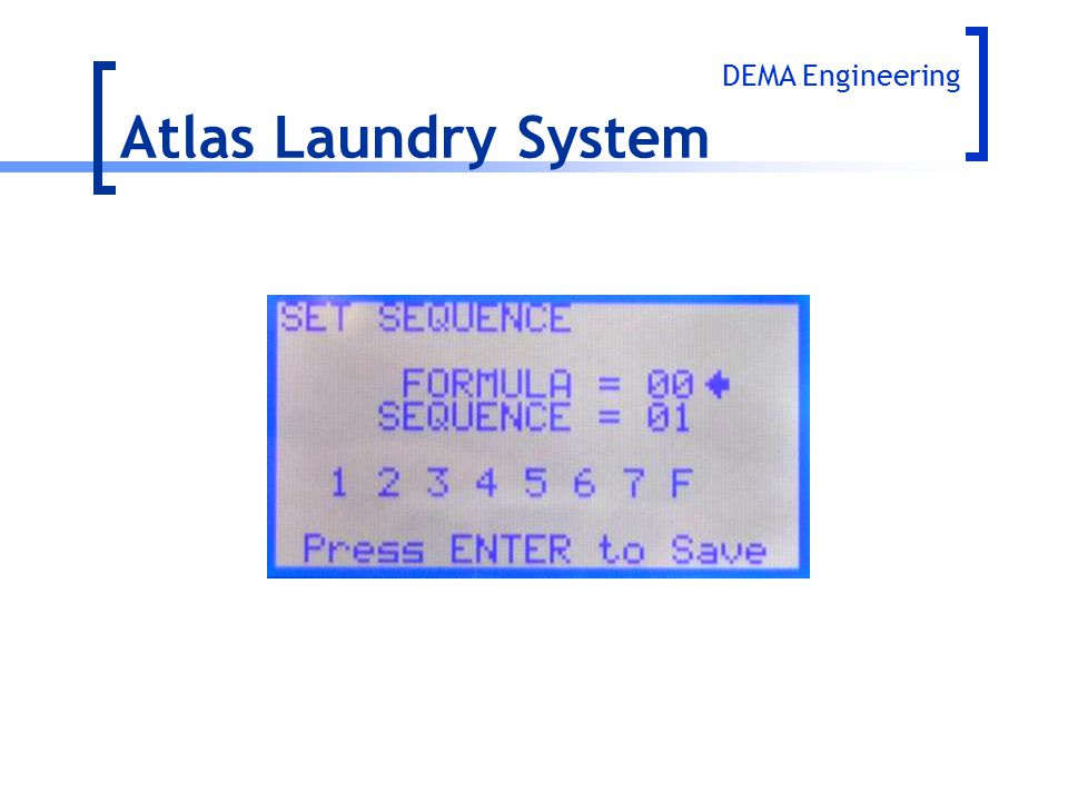 Atlas Laundry System DEMA Engineering