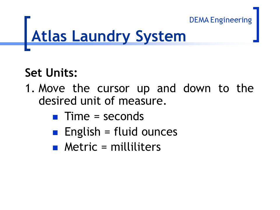 Atlas Laundry System Set Units: