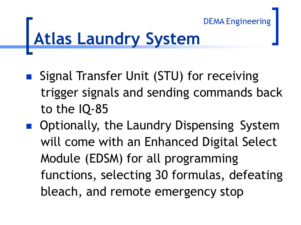 Atlas Laundry System Signal Transfer Unit (STU) for receiving