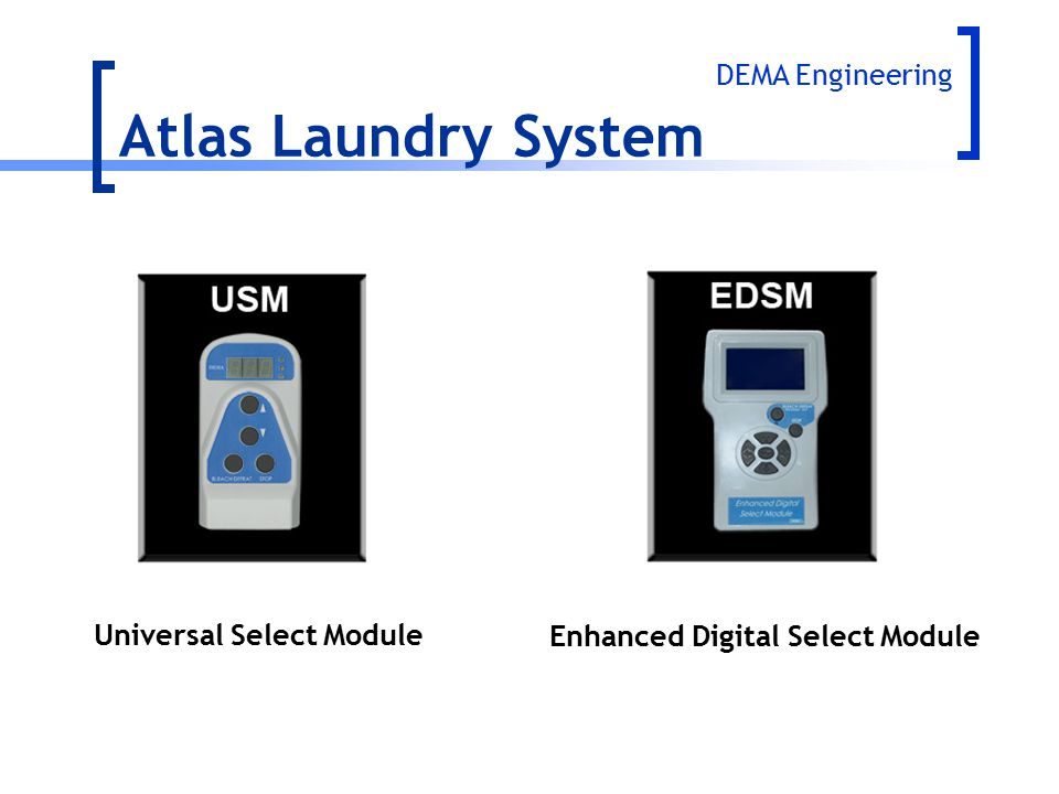 Atlas Laundry System DEMA Engineering Universal Select Module