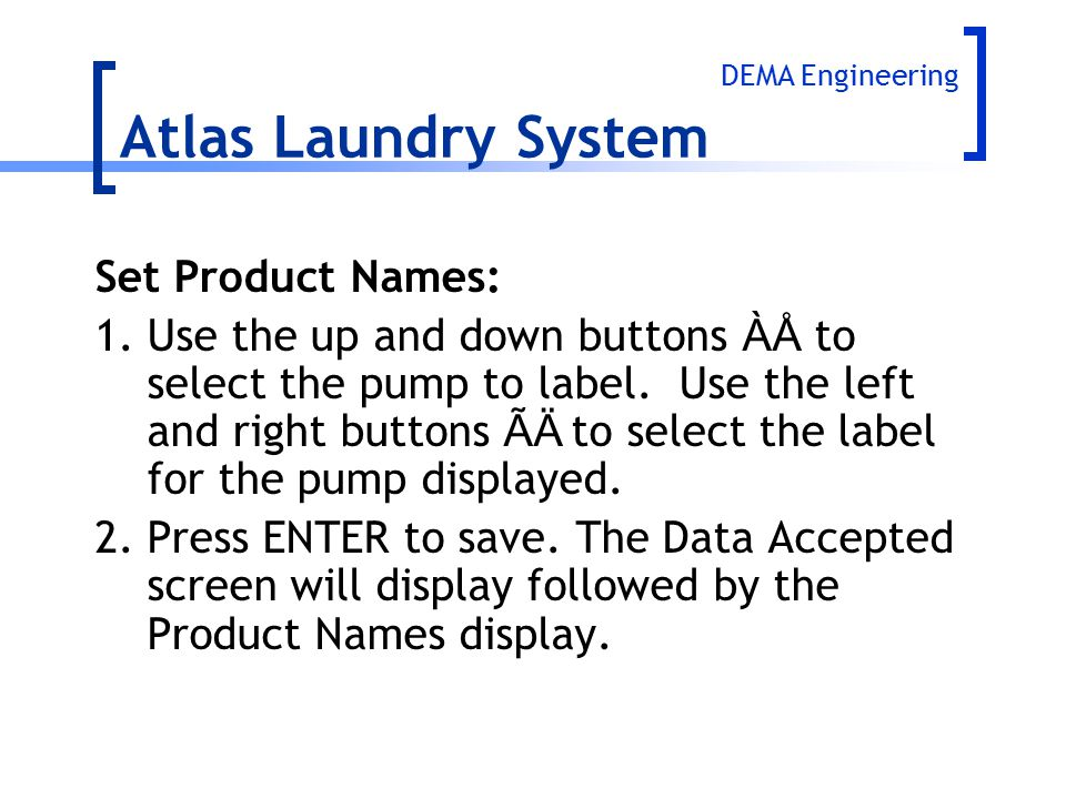 Atlas Laundry System Set Product Names: