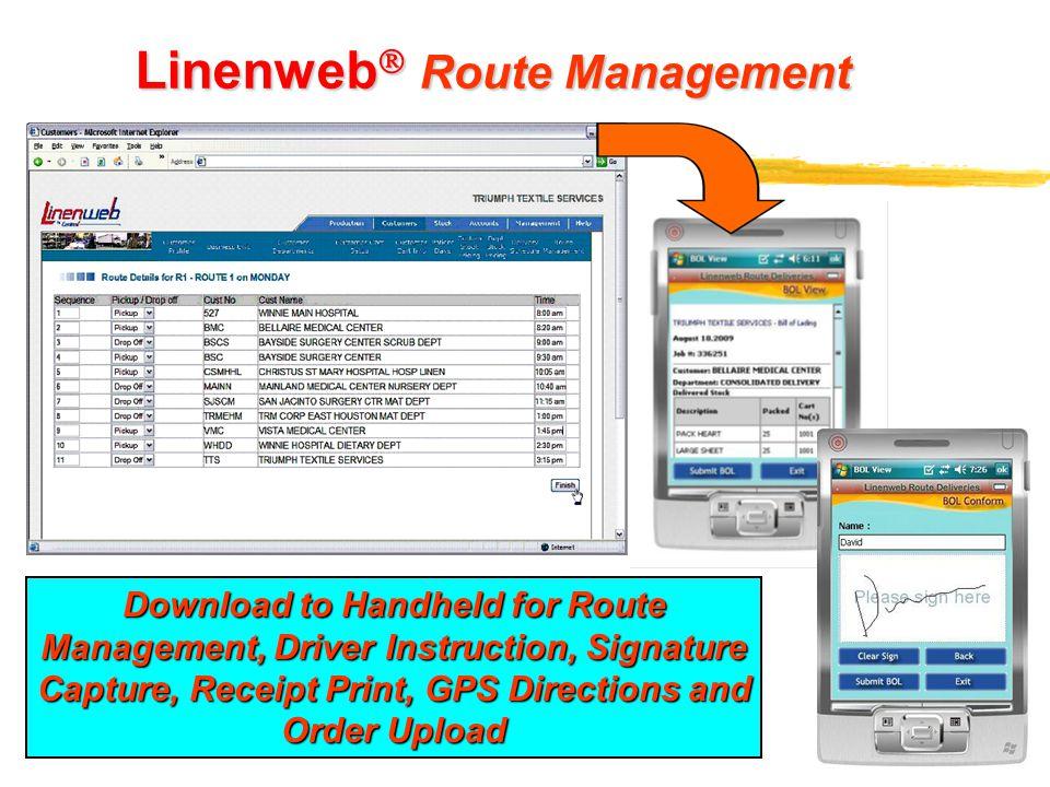 Linenweb Route Management