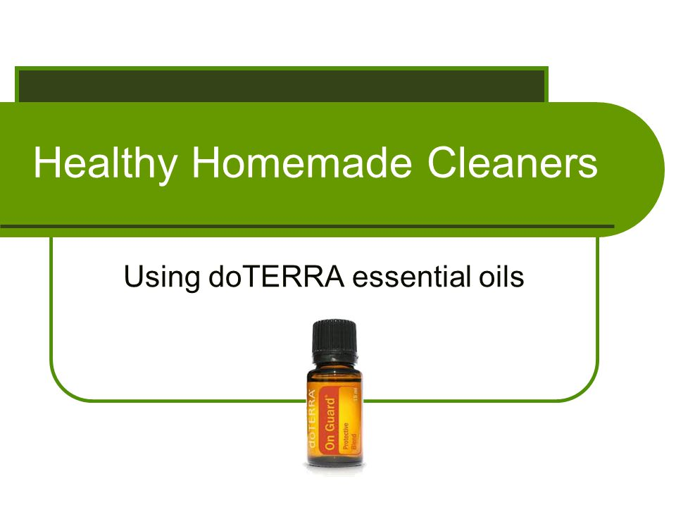 Healthy Homemade Cleaners