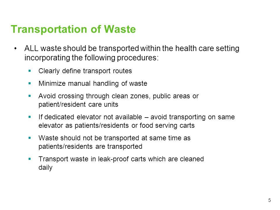 Transportation of Waste
