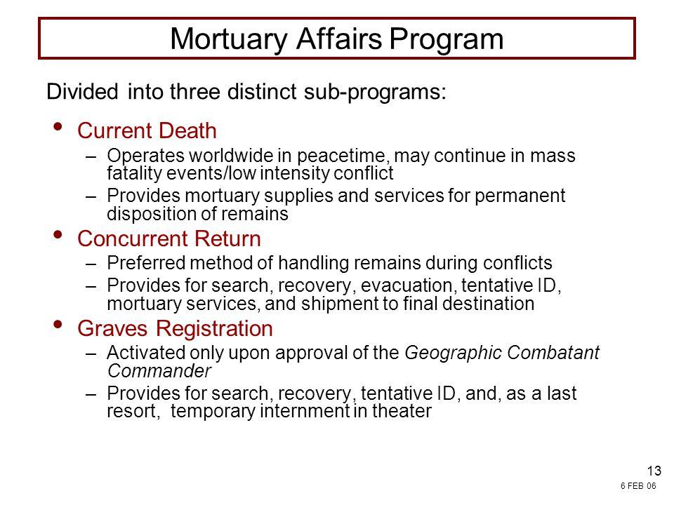 Mortuary Affairs Program