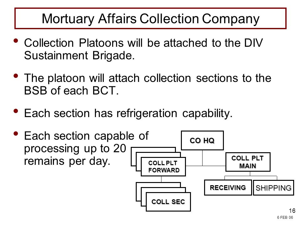 Mortuary Affairs Collection Company