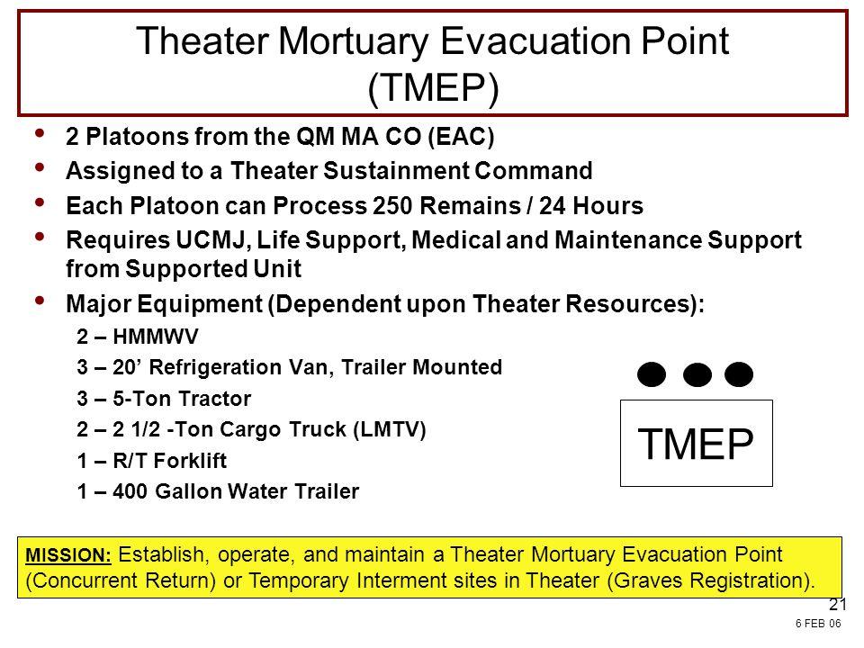 Theater Mortuary Evacuation Point (TMEP)