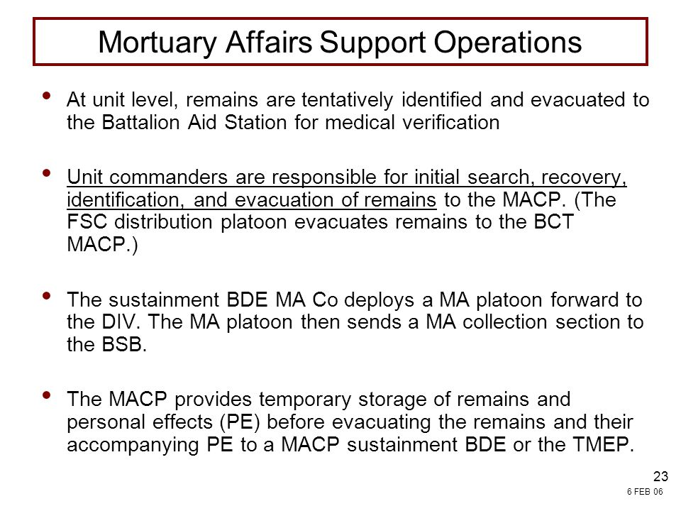 Mortuary Affairs Support Operations