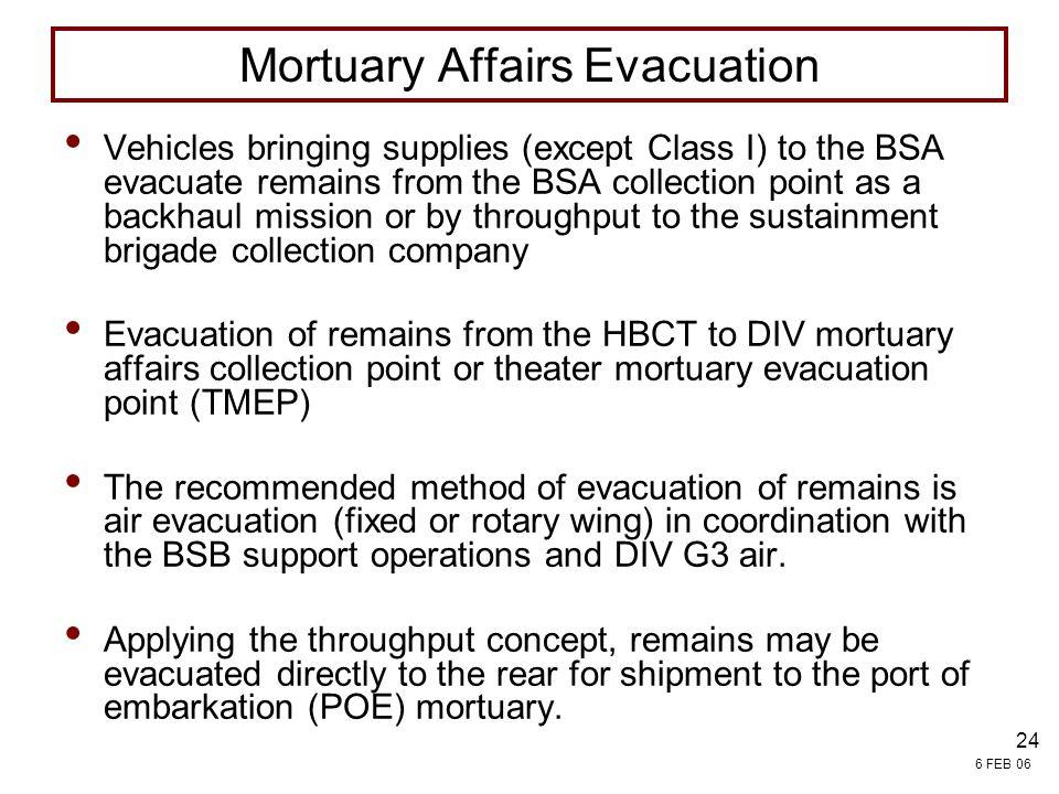 Mortuary Affairs Evacuation