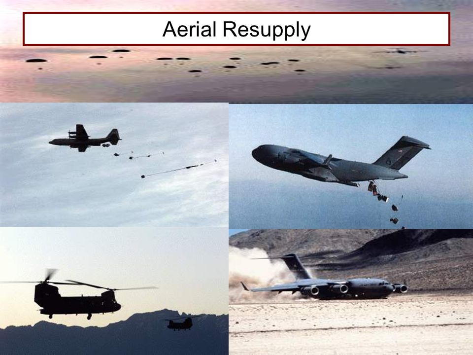 Aerial Resupply FIELD SERVICES 4/13/2017 7:54 PM