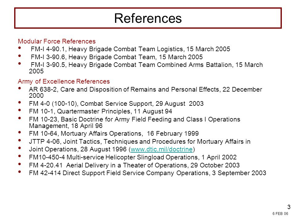 References FIELD SERVICES Modular Force References