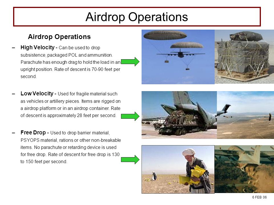 Airdrop Operations Airdrop Operations FIELD SERVICES