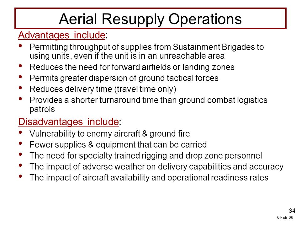 Aerial Resupply Operations