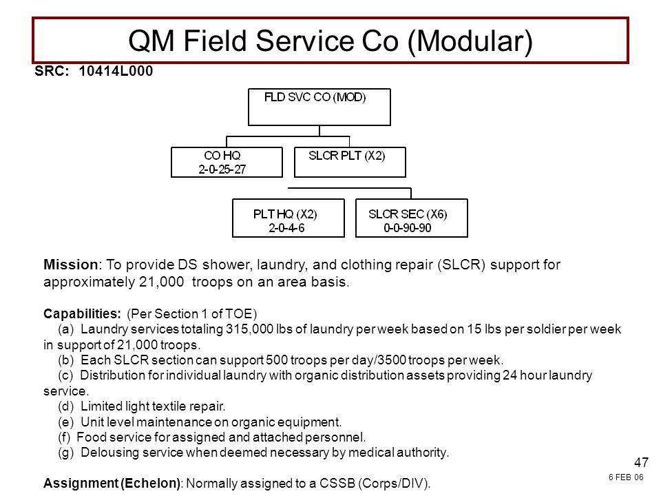 QM Field Service Co (Modular)