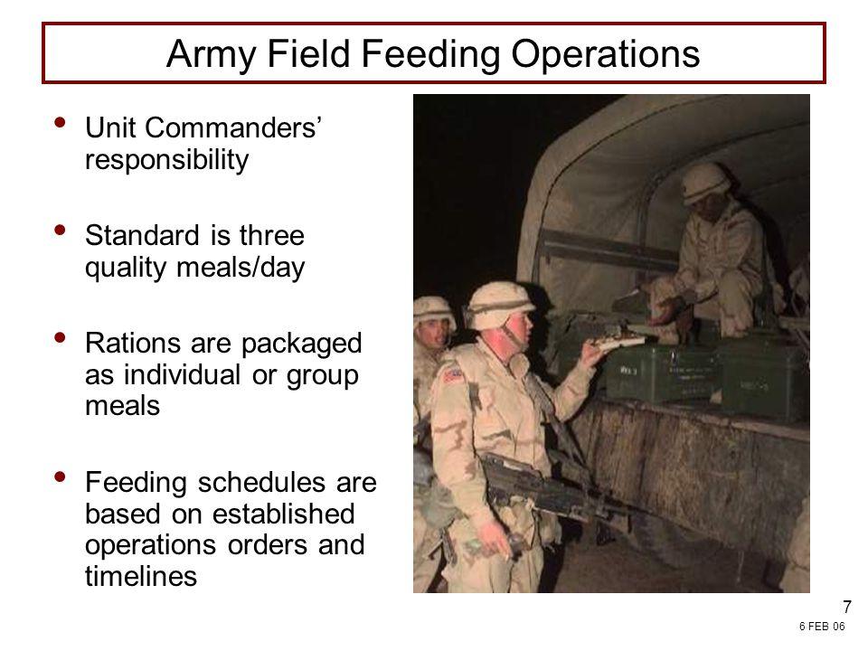 Army Field Feeding Operations