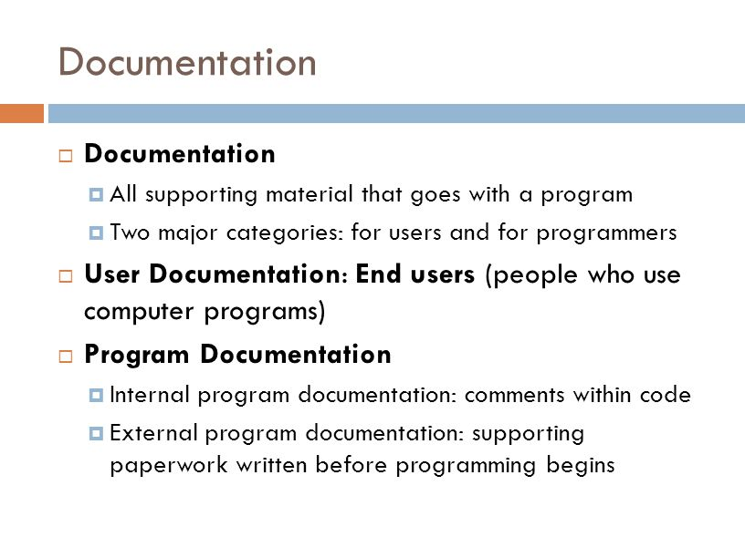Documentation Documentation