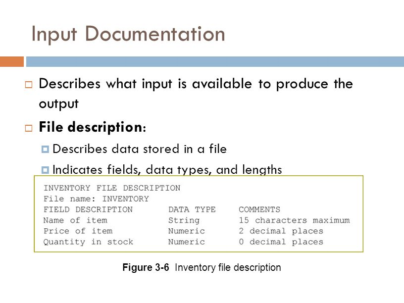 Figure 3-6 Inventory file description