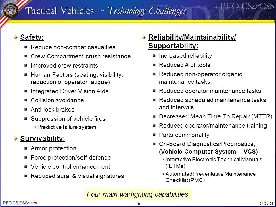 Tactical Vehicles ~ Technology Challenges