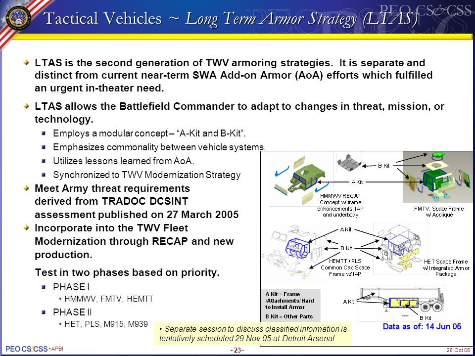 Tactical Vehicles ~ Long Term Armor Strategy (LTAS)