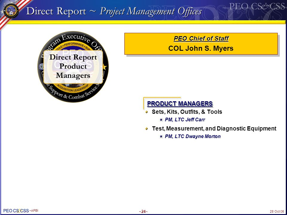Direct Report ~ Project Management Offices