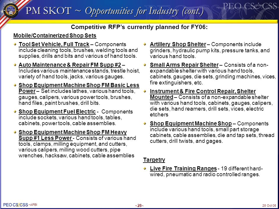PM SKOT ~ Opportunities for Industry (cont.)