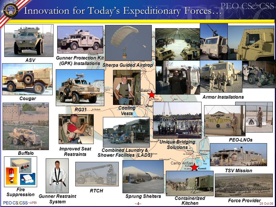 Innovation for Today's Expeditionary Forces…