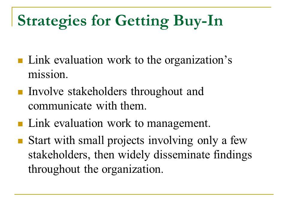 Strategies for Getting Buy-In