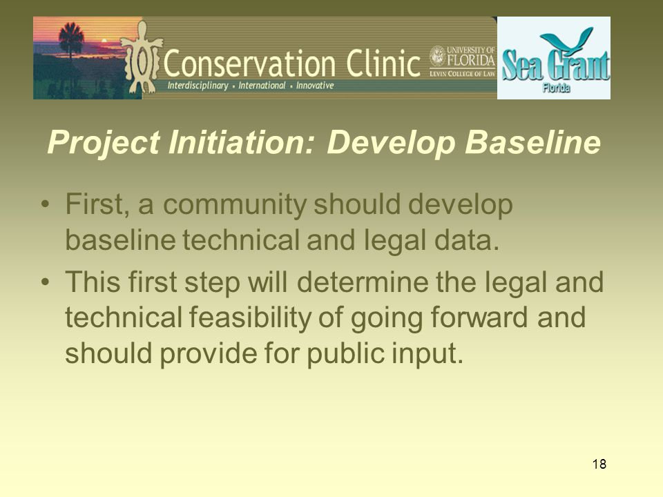 Project Initiation: Develop Baseline