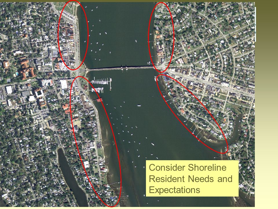 Consider Shoreline Resident Needs and Expectations